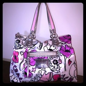 COACH Poppy Petal Pink Glam Tote
